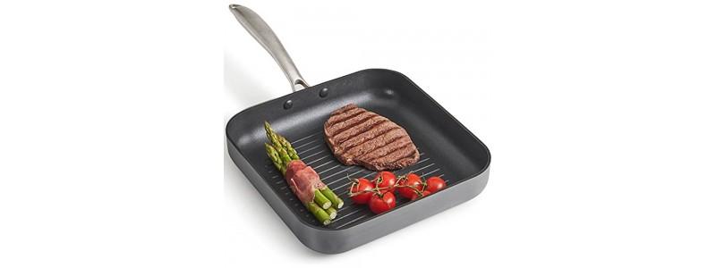 Сковорода-гриль. Какая лучше, как на ней готовить овощи, рыбу, мясо.