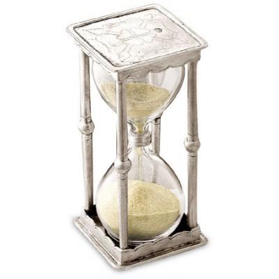 Песочные часы, 2.5 минуты, H 11,5 см, олово, серия ARCHIMEDE, Cosi Tabellini