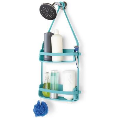 Органайзер для душа flex голубой, L 33 см, W 10 см, H 65 см, Umbra