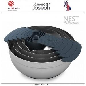 Набор кухонных мисок Nest Collection 100, 9 предметов, сталь нержавеющая, Joseph Joseph