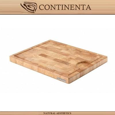 Доска разделочная BLOCK RUBBERW, 37 х 29 см, каучуковое дерево, Continenta
